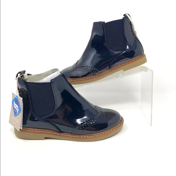 girls navy chelsea boots